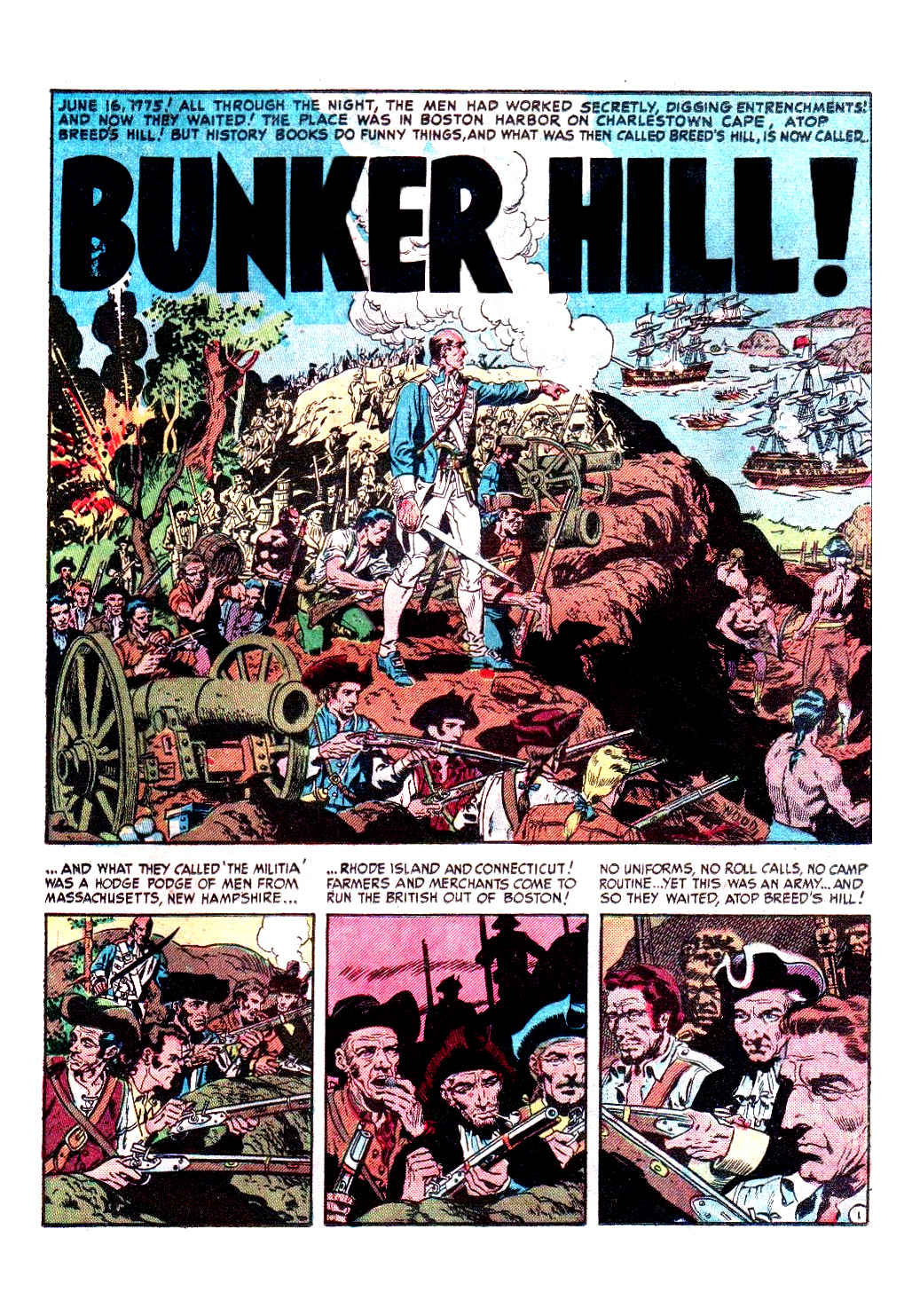 Bunker Hill from Two-Fisted Tales #25 1952