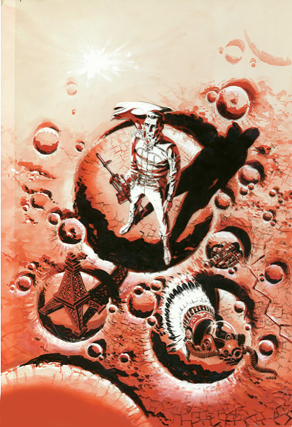 Wally Wood Original Cover Art for Colonial Survey Gnome Press 1957. The legendary Wally Wood offers a cover for the Gnome...